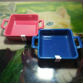 BRAND NEW - Blue and Red Pie Dishes