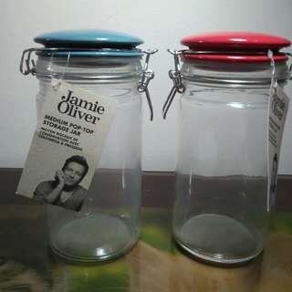 BRAND NEW - Jamie Oliver Pop-Top Storage Jars