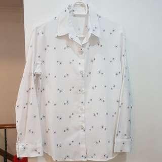 White patterned print longsleeve 1