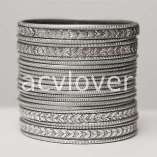 24 Pieces Glittering Indian Bangles 2.8