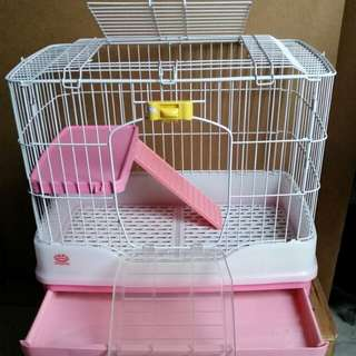 BN Cage with plastic tray & wheels (Display Set)