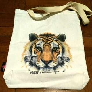 Tiger totebag 老虎 帆布袋 手抽袋手挽袋