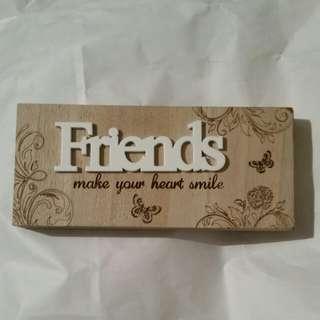 Friends gift decoration for shelf or desk