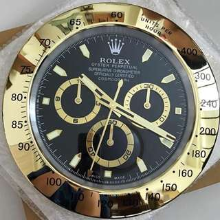 Rolex Wall Clock (Daytona Gold - Black faced)