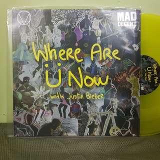"Justin Bieber : Where Are U Now - 12"" yellow vinyl"