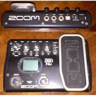 Zoom g21nu guitar effects pedal