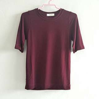 BN Maroon Sleeved Top