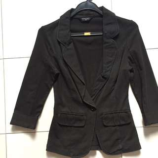 Black casual slim cut jacket