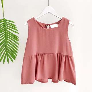 (INSTOCK) Rust Red Babydoll Top