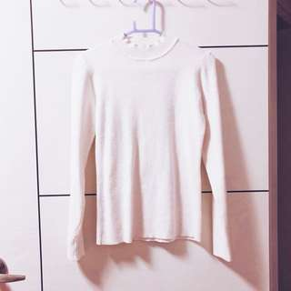 白色貼身顯瘦毛衣