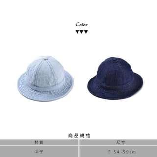 淺藍圓頂牛仔漁夫帽 #換季五折
