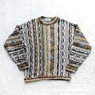 Mens Tosani Vintage Coogi Style Sweater Sz XL