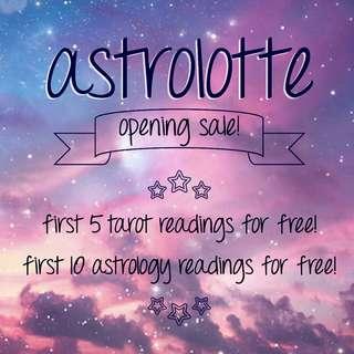 Free astrology & tarot reading!