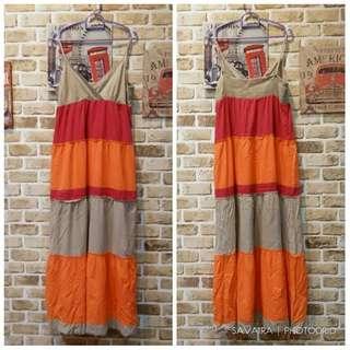 SLEVELESS BLOCKING LONG DRESS #SpringClean60
