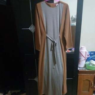 Gamis Jersy Camel