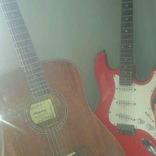 Gitar legacy akustik elektrik/ Gitar elektrik startocaster custom