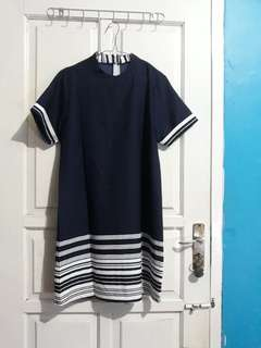 Ladyfame Navy Dress