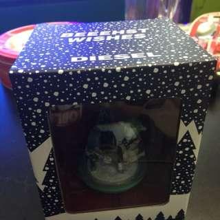 日版 Diesel snow globe 禮物 聖誕 吊飾