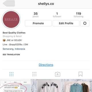 Follow Instagram @shellys.co