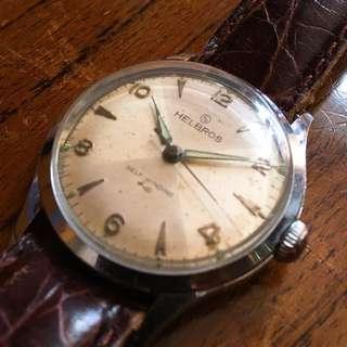 50年代 德國HELBROS 自動機械 古董錶