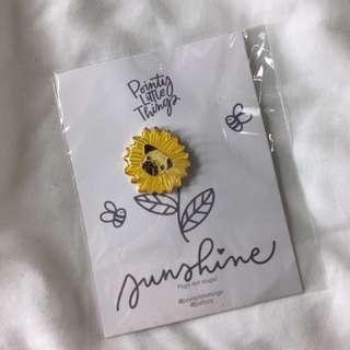 Pug Sunflower Pin