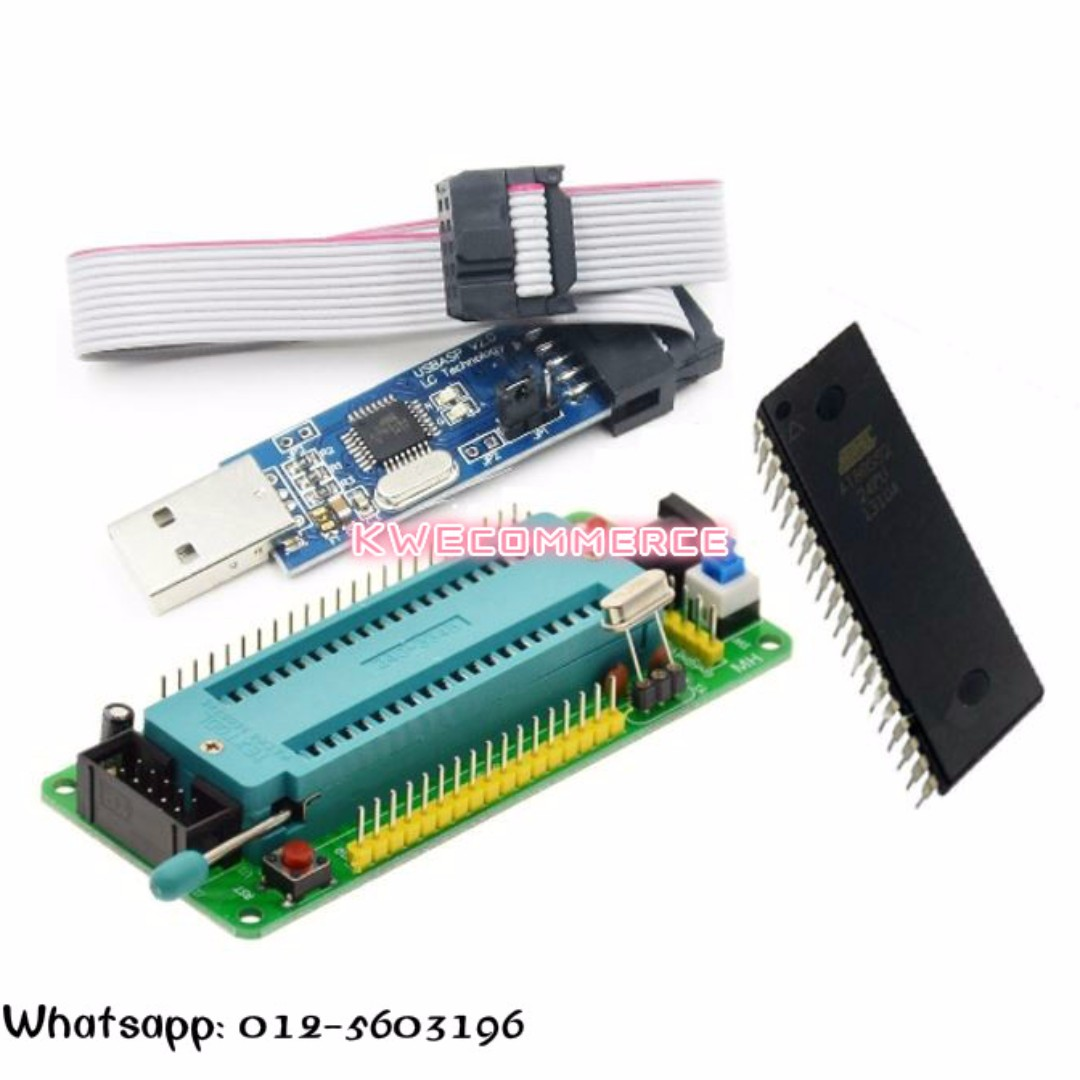 8051 Mcu System Board Stc89s52 At89s52 Usb Isp Usbasp Programmer Pc Software For Programming This At89s51 52 Microcontroller Can Be Atmel Chip Electronics Others On Carousell
