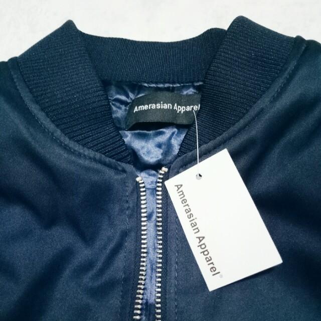 近全新 Amerasian apparel 鋪棉 厚 拉鍊 飛行外套