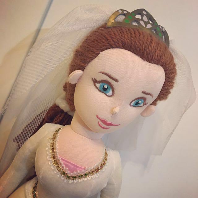 《絕版品》新加坡環球影城限定電影史瑞克 Fiona費歐娜公主玩偶娃娃新娘版
