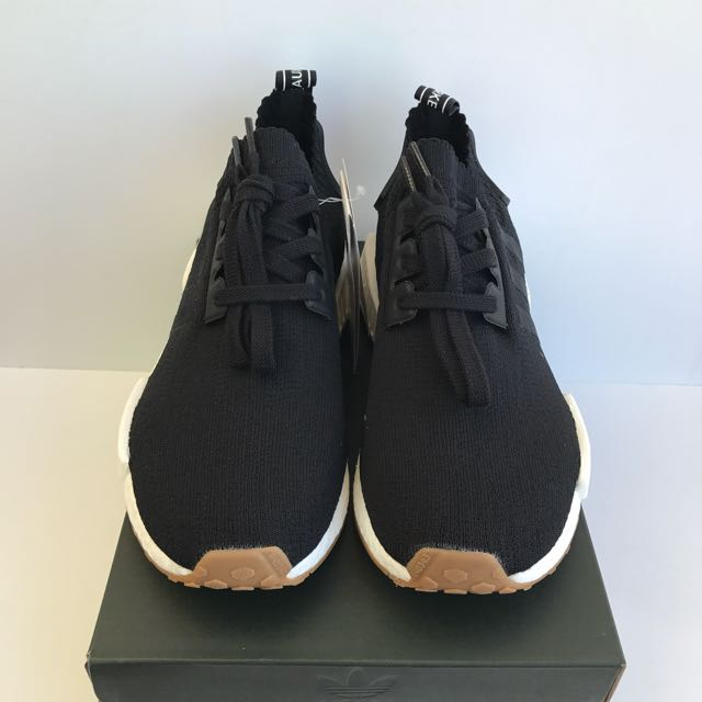 Adidas NMD R1 PK Black Gum Size US 8 BRAND NEW