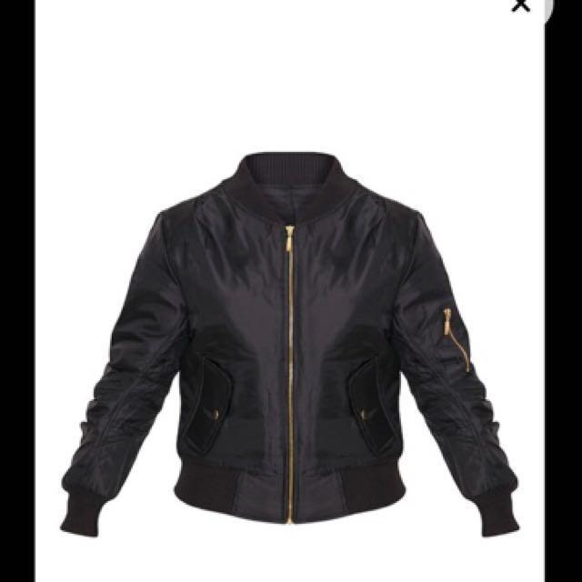 Alexus Black Bomber Jacket