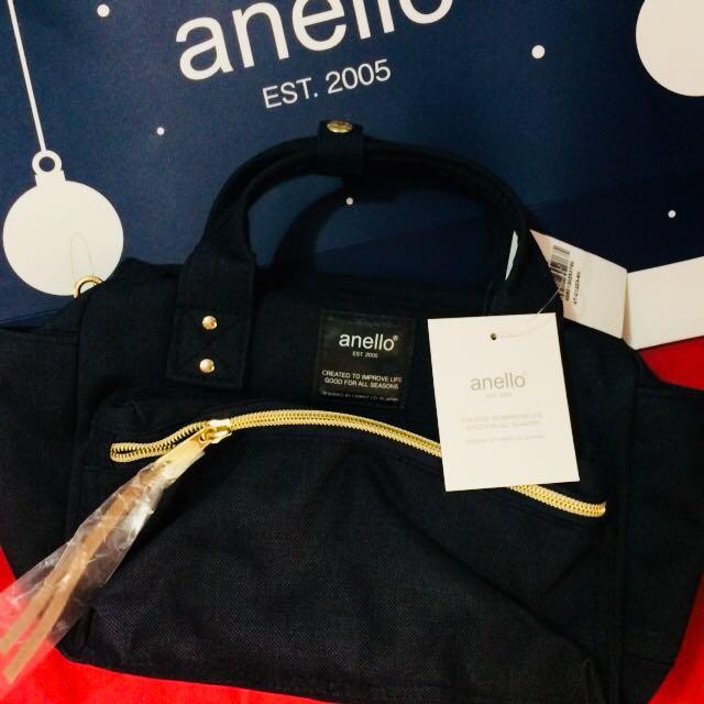 Anello Square Mini Boston 2 Way Shoulder Bag