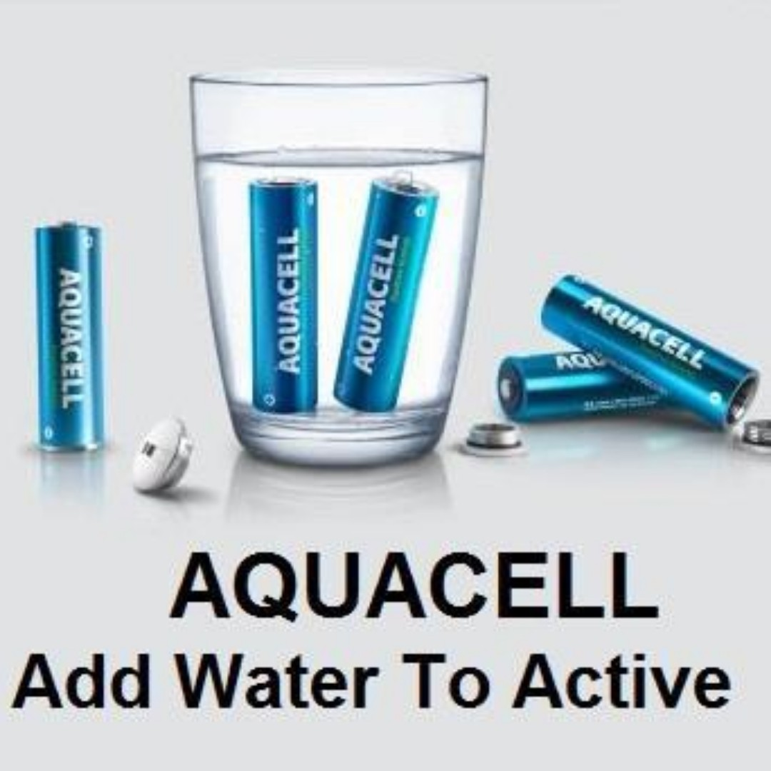 Aquacell Water Activated Rechargeable Batteries Eco 1.5V AA x2 Battery