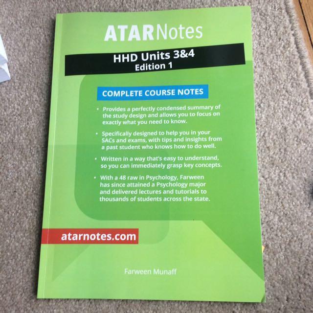 ATAR Notes Health and human  units 3&4
