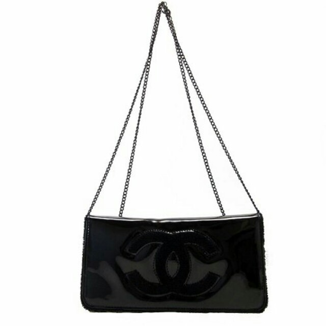 Authentic Chanel VIP beaute Patent Clutch chain bag