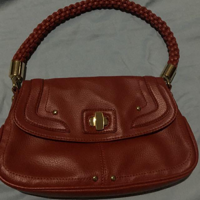 Authentic red mango shoulder bag