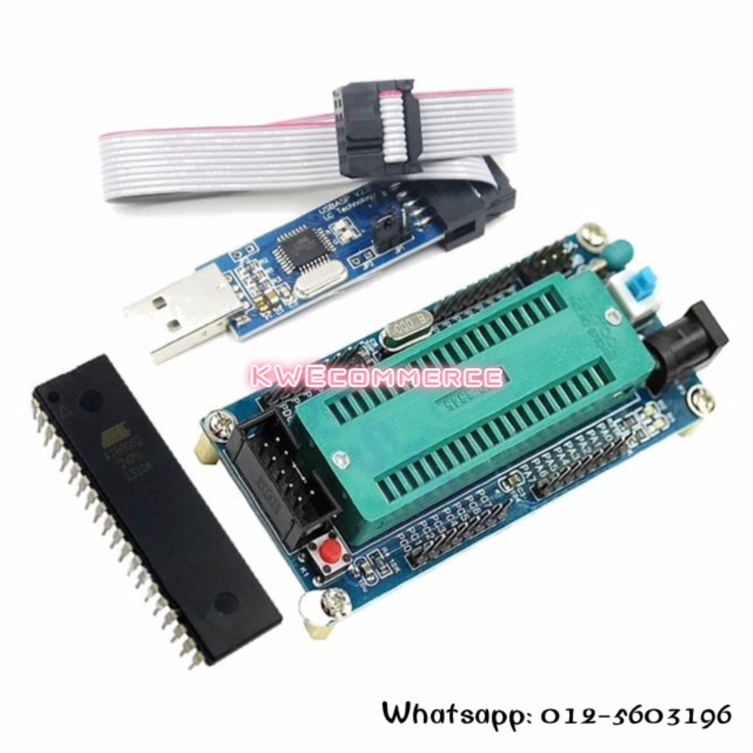 Avr System Board Atmega16 Atmega32 Usb Isp Usbasp Programmer In Sytem For Atmel Microcontroller Chip Electronics Others On Carousell