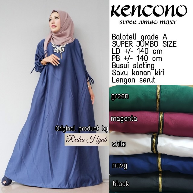 Baju Wanita Gamis Kencono Jumbo Maxy Muslim Unik Cantik Trendi