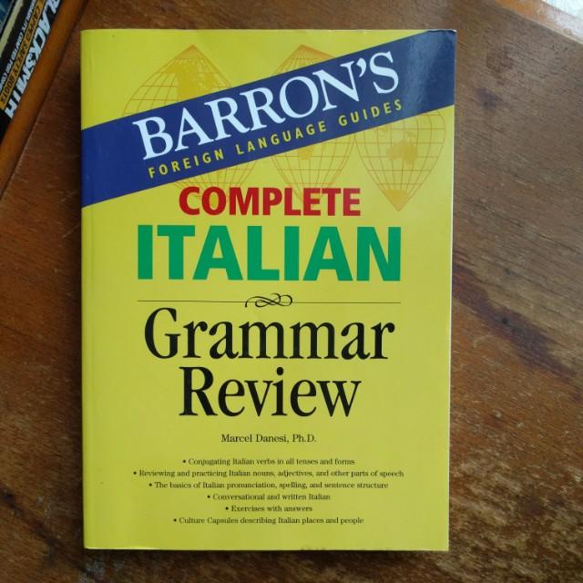 Barron's complete italian grammar review