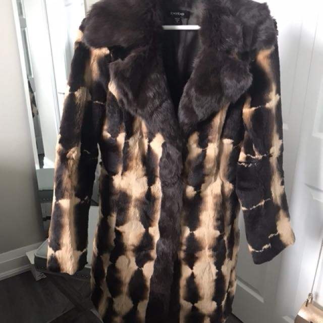 Bebe Rabbit Fur Coat Real Fur