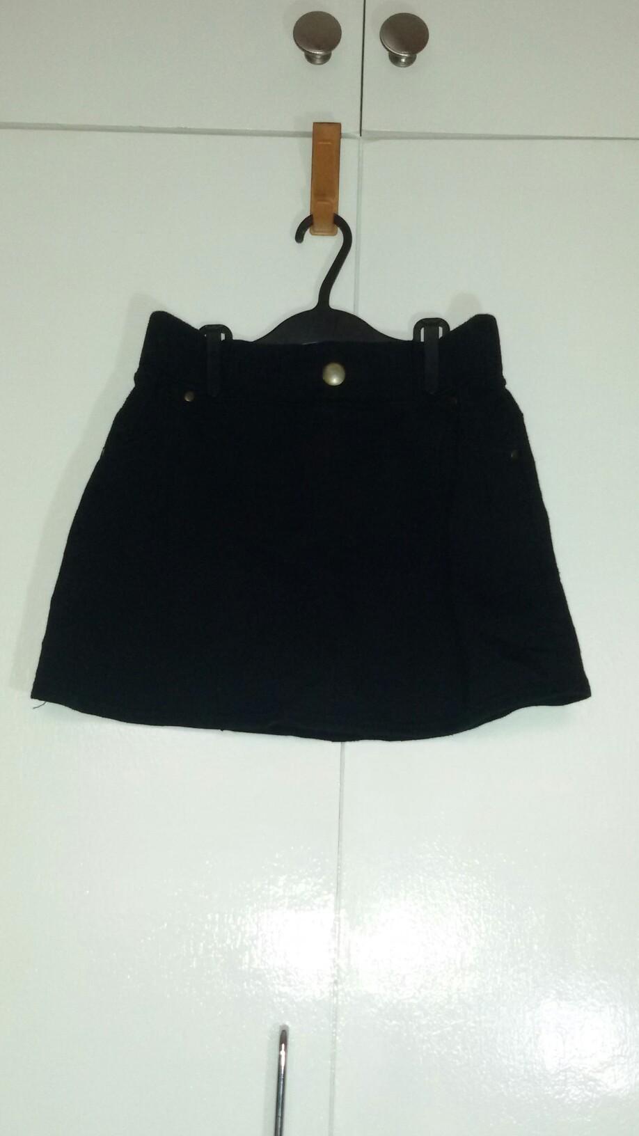BLACK Cotton Skirt size 27