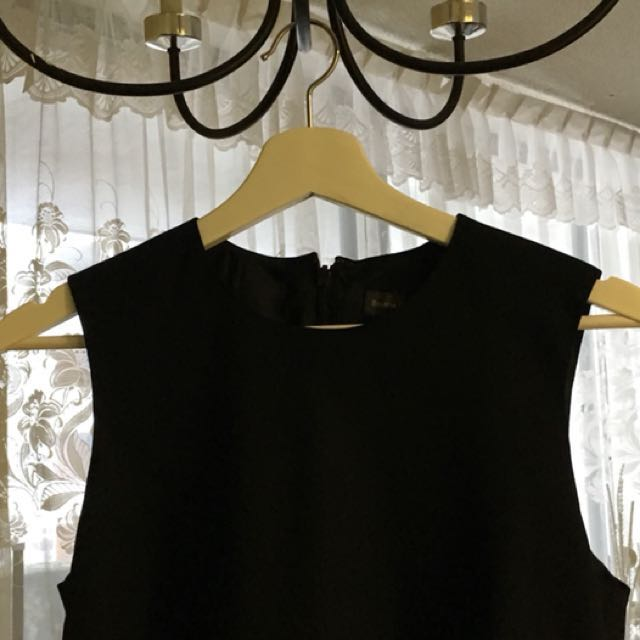 Black Pinned Dress Office Shirt