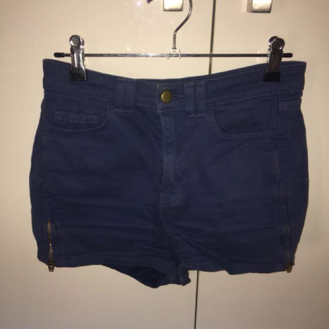 Blue American Apparel Shorts