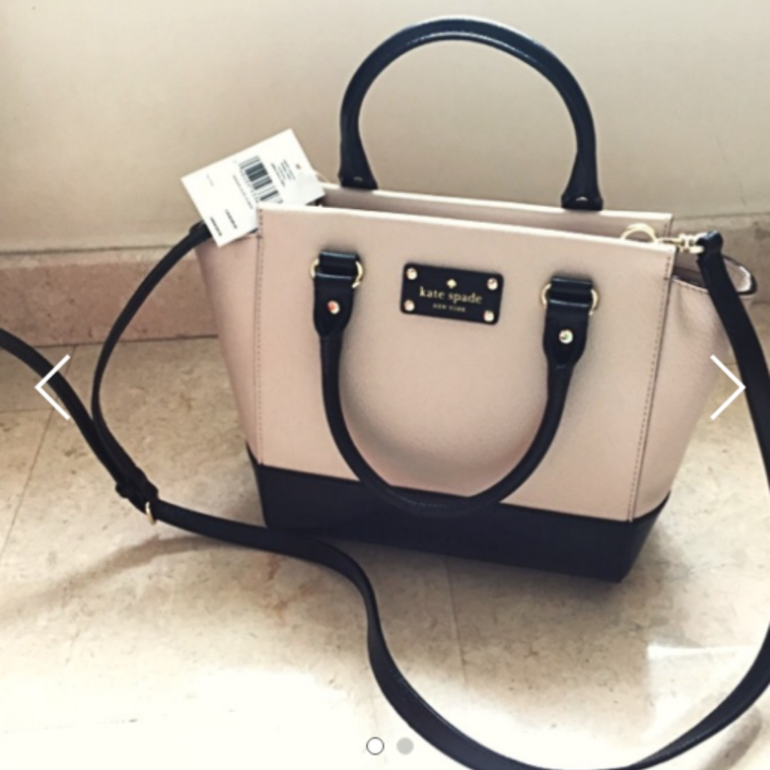 Bn Kate Spade Handbag Classic Black White Design Brand New Women S Fashion Bags Wallets On Carou