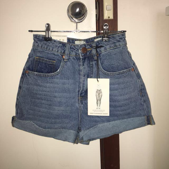 BNWT mum denim shorts