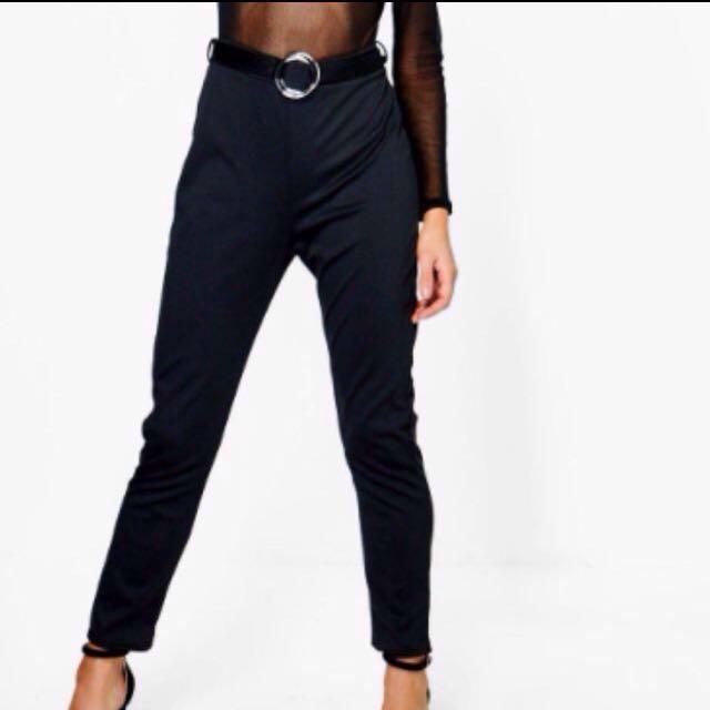 Boohoo high waist pants