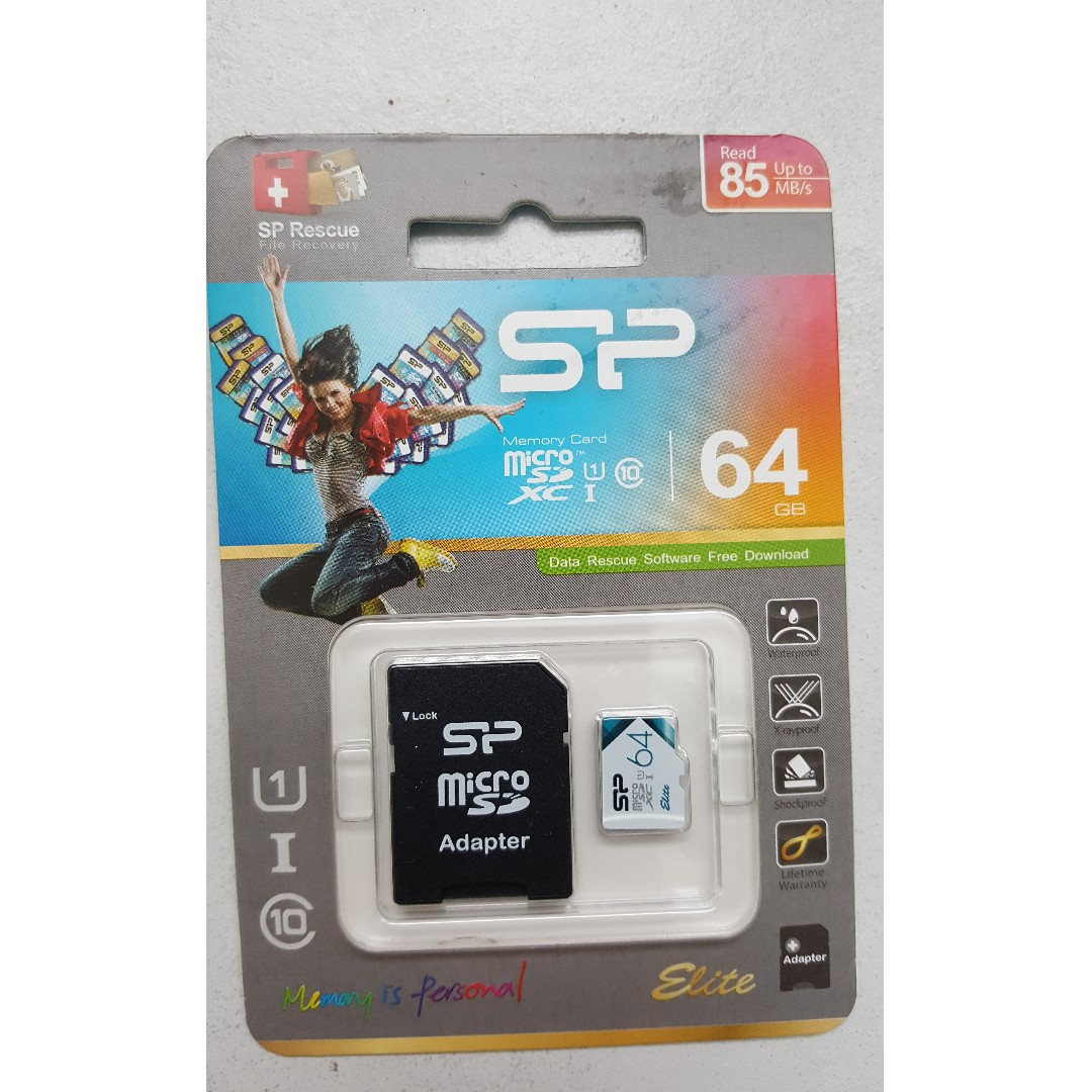 Brand New Silicon Power microSD card Limited Edition + adapter + micro sdcase