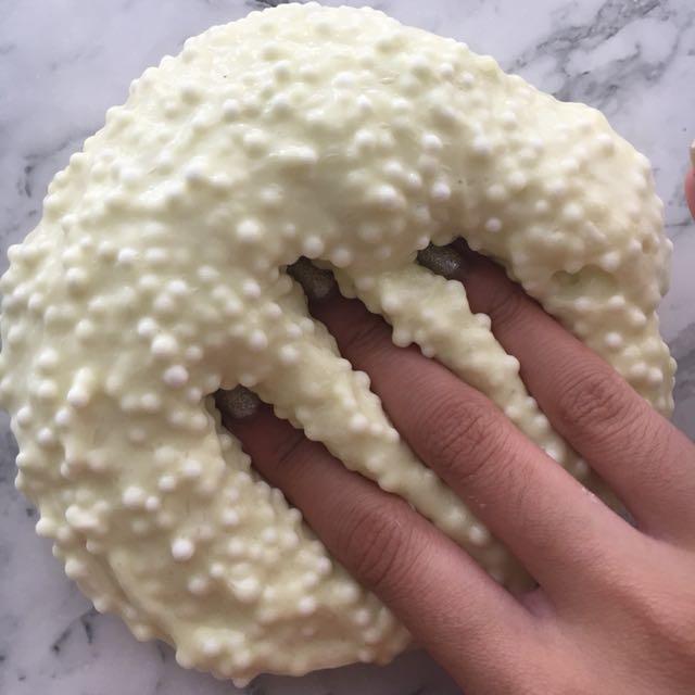 Buttered Popcorn Slime - Half floam, Crunchy