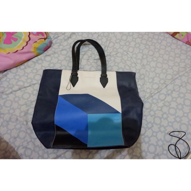 Charles & Keith blue bag