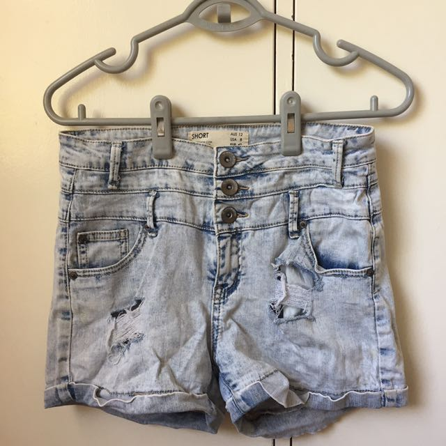 CHEAP AS COTTON ON 90's ACID WASH SHORTS