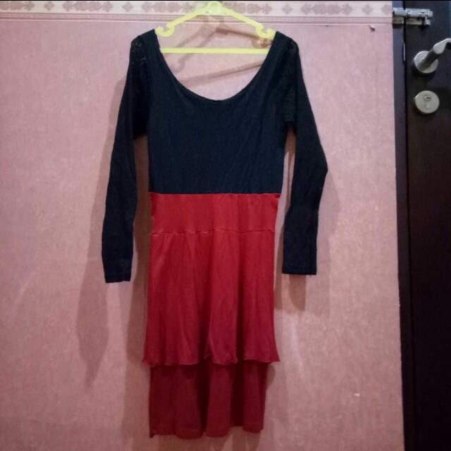 🎄CHRISTMAS PROMO🎄 Black Red Dress